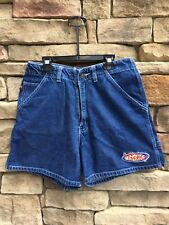 Mickey Mouse Disney Unlimited Womens Denim Shorts Embroidered High Waist size 27