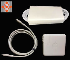 "100% Genuine APPLE MacBook Pro 13"" 61W USB-C Power Adapter Charger + Cable +EXT"