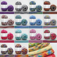 New 4Ply Colour Gradient Middle-Thick Milk Cotton Baby Yarn For Hand Knitting 03