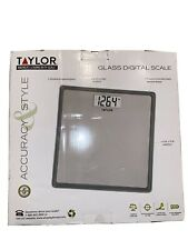 NIB Taylor Glass Digital Bath Scale