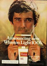 1977 Winston Light 100's Cigarettes`Sexy Male Model` Print Ad (050714)