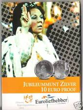 NEDERLAND         JUBILEUMMUNT     ZILVER 10 EURO PROOF