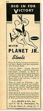 1943 Planet Jr. Farm Steels S.L. Allen & Co Print Ad Dig In For Victory