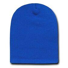 Royal 8 Inch Short Knit Beanie Winter Ski Cap Caps Hat Hats Toque Toques