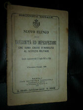 BIBLIOTECA LEGALE -INFERMITA' E IMPERFEZIONI INABILITA' MILTARE - NAPOLI 1917