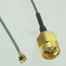 SMA male plug center to IPX U.FL female 1.13 cable pigtail 20cm