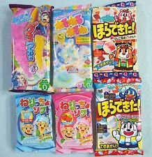 6 PCS Set Japanese Candy Kracie Popin Cookin Coris Nerunerunerune Gummy New Gift