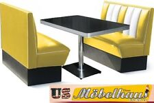 2hw120r American Diner Bench Seating Furniture 50´s USA Style Catering