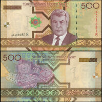 TURKMENISTÁN BILLETE 500 MANAT. 2005 LUJO. Cat# P.19a