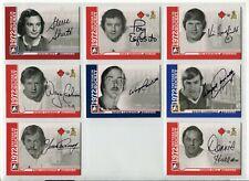 2009-10 ITG 1972 The Year In Hockey Autographs  #ASSH Steve Shutt