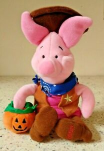 Rare  Winnie The Pooh  Cowboy Piglet Beanie Dated 2000 Exclusive to Disney Store