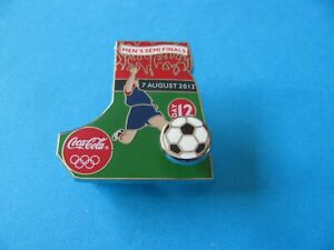 2012 Olympic Coca Cola Football Pin Badge, VGC. Back Stamped. Enamel.