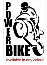 "Large Motor bike decal ""Power Bike"" for your car, laptop, iPad cover or den"