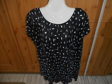 GEORGE POLYESTER BLACK AND WHITE ALLOVER PLEATED TOP SIZE 20