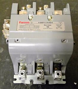 FURNAS 40HP32AAD6 Lighting Contactor 100a 120/240v Coil 25D73251A 75HF14 TESTED