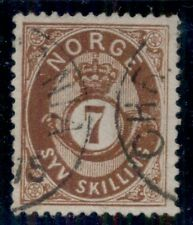 Norway #21 7sk used, great centering Vf+ Scott $65.00