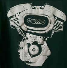 Vintage Harley Davidson t shirt 1970's shovelhead Sz M Rare. Single StitchThread