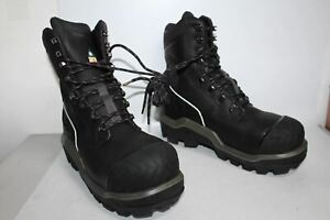 DUNLOP Men's Black Leather Lace Up Hiking Winter Snow Boots Size EU46 UK11 NEW