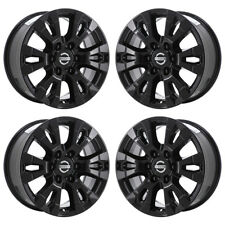 "18"" FITS NISSAN TITAN BLACK WHEELS RIMS FACTORY OEM 2017 2018 2019 SET 4 62751"