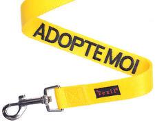 Colliers jaunes en nylon pour chien