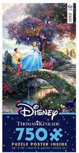NEW THOMAS KINKADE DISNEY Cinderella Wishes Upon a Dream Jigsaw Puzzle 750 Pc