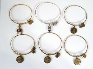 Alex and Ani. Charm Bangle Bracelets lot of (6)