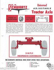 Farm Tractor Brochure - Schwartz - Univeral Adjustable Axle  (F4285)