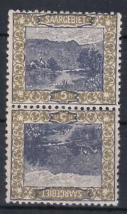 Saargebiet 1921 Kehrdruck Michel Nr. 53 III oder 53 IV Wunderschöne Stücke