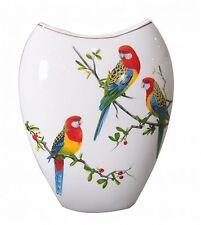 """Rosella"" Ceramic Vase White Background - Boxed - Australian Bird"