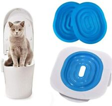 Cat Toilet Training Kit Systems, Professional Cat Toilet Trainer, (Blue) Us