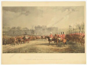 """""""The Princess passing the lines of volunteers in Hyde Park, London"""", lithograph"""