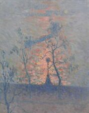 Emile Claus Sunset On The Tamise Canvas Print 16 x 20     #4705