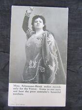 Antique 1914 Schumann-Heink Victor Advertising Postcard, Bratton's Music Store