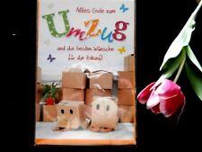 Glückwunschkarte Umzug Einzug Neues Heim Home modern Hochwertig Kinder Kartons
