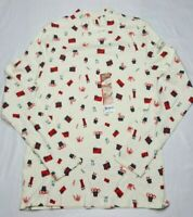 White Stag Womens Christmas Shirt  Size Small 4-6  Mock Turtle Neck  100% Cotton
