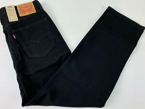 Levi's Men's 550 Relaxed Jeans Size 34x32 Black Denim Pants Tapered Leg New