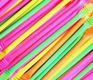 Swizzels Rainbow Dust Straws 50 100 150 200 Party Bag Fillers Sherbet Retro