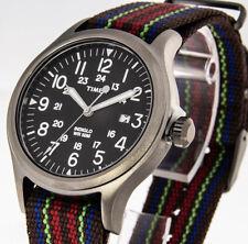 Timex SCOUT BROOK TITAN/BLACK ABT011 Zuluband mehrfarbig Indiglo Beleuchtung