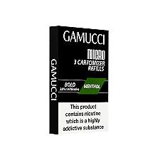 GAMUCCI MICRO CARTOMIZER 2.0% ORIGINAL AND MENTHOL REFILLS - PRICE DROP!!!