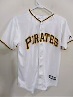 Majestic Coolbase MLB Genuine Pittsburgh Pirates Jersey Youth L Large Used Good