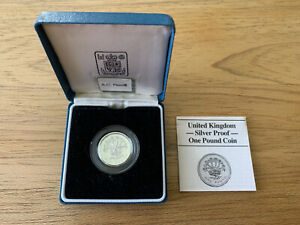 Great Britain, Silver (.925), Proof One Pound Coin 1986