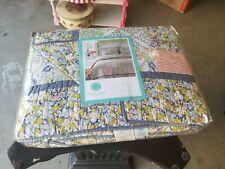 Martha Stewart Sunshine Patchwork Full/ Queen Quilt Sham Set Mint In Package