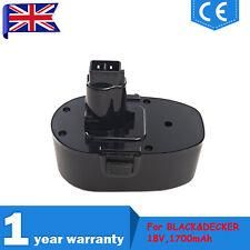 18V 1.7Ah Battery For BLACK&DECKER A9268,PS145,A9277,A9282,HP932K-2,CD18C,KC181