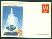 Vatican City 1950 Mint  35L Postcard, All Line Same, Fountain in St. Peter's