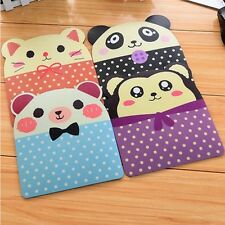 2PCS Cartoon Panda Bear Antiskid Mouse Pad Korean Stationery Kawaii Animal Face