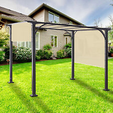 20 Ft Waterproof Straight Side Hemmed Sun Shade Sail Canopy Awning Patio Cover