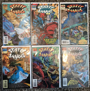 Street Sharks #1-3 1st Series & #1-3 2nd Series Complete Sets 1996 Archie Comics
