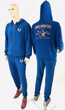 2 Pcs Set Blue Hoodie Sweat Pant True Religion Men Hoodie Sweat Pant Sports Wear
