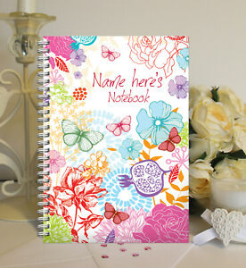 Personalised A5 Softbacked Notebook, Notepad, For Her, Floral Theme