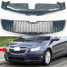 2x For Chevrolet Cruze 2009-2014 Car Front Upper Lower Grille Grid Cover Frame